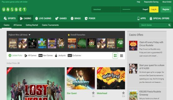 unibet casino website